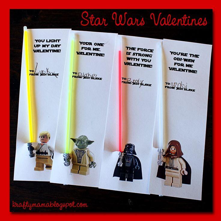 kraf*T*y mama: Easy Star Wars Valentines #apeekintomyparadise #happinessishomemade
