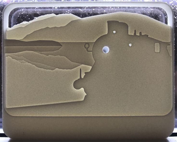 Velkommen til Krøderen,3D printed leveled sign