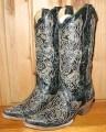 Corral Boots Black Laser Goat