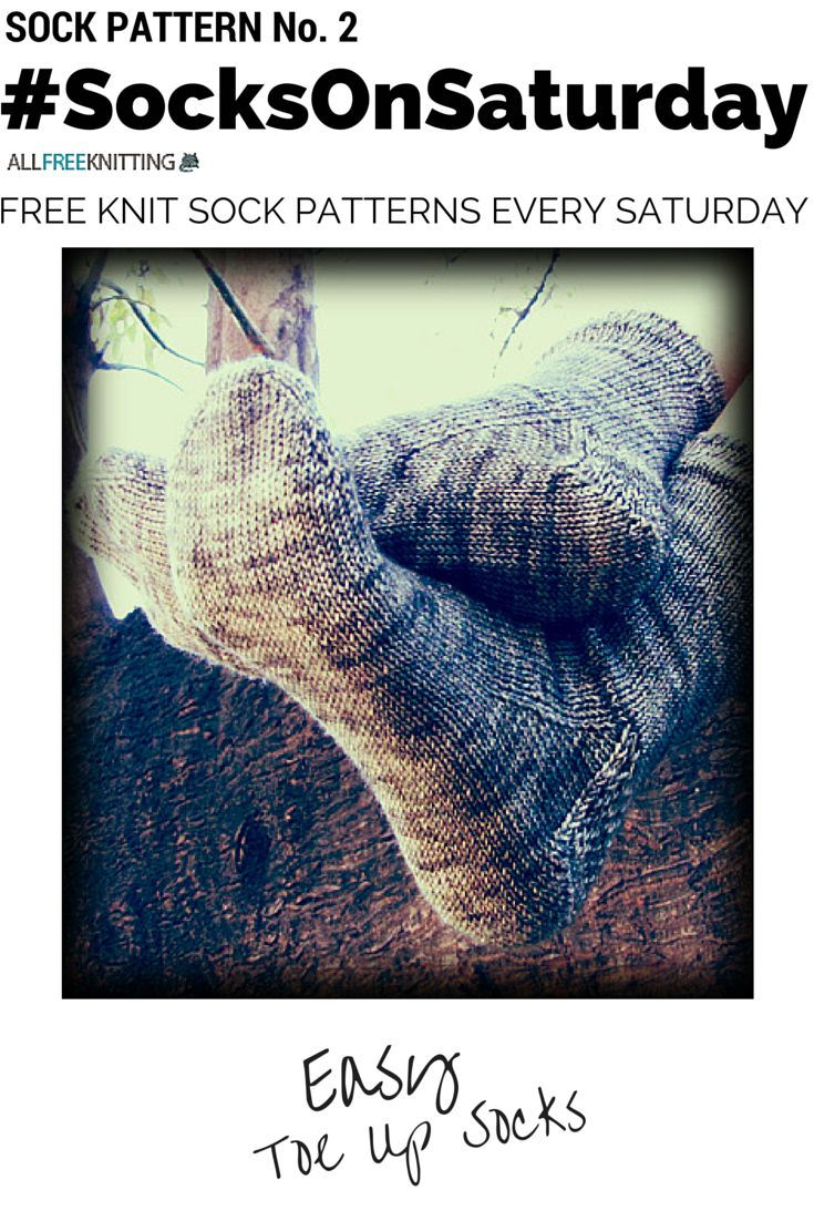 Learn how to knit socks from the to up with this free pattern from @knitfreedom. #SocksOnSaturday