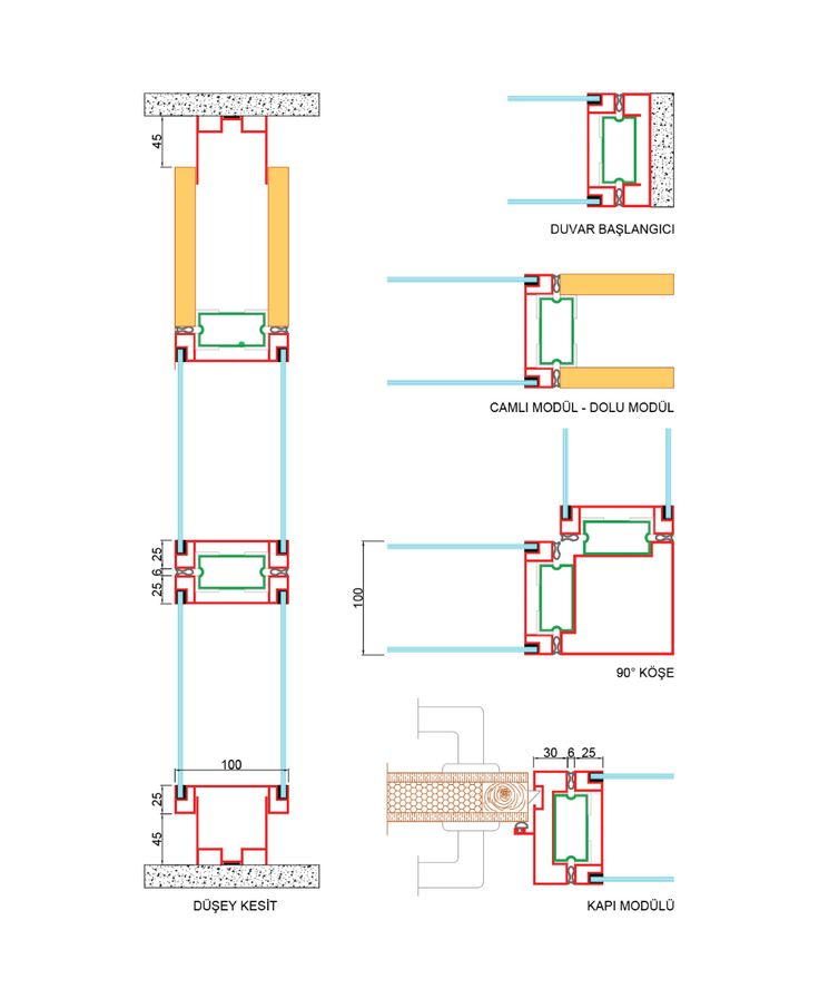 Beta – Modular Partition Wall System | Technical details  – Ofis