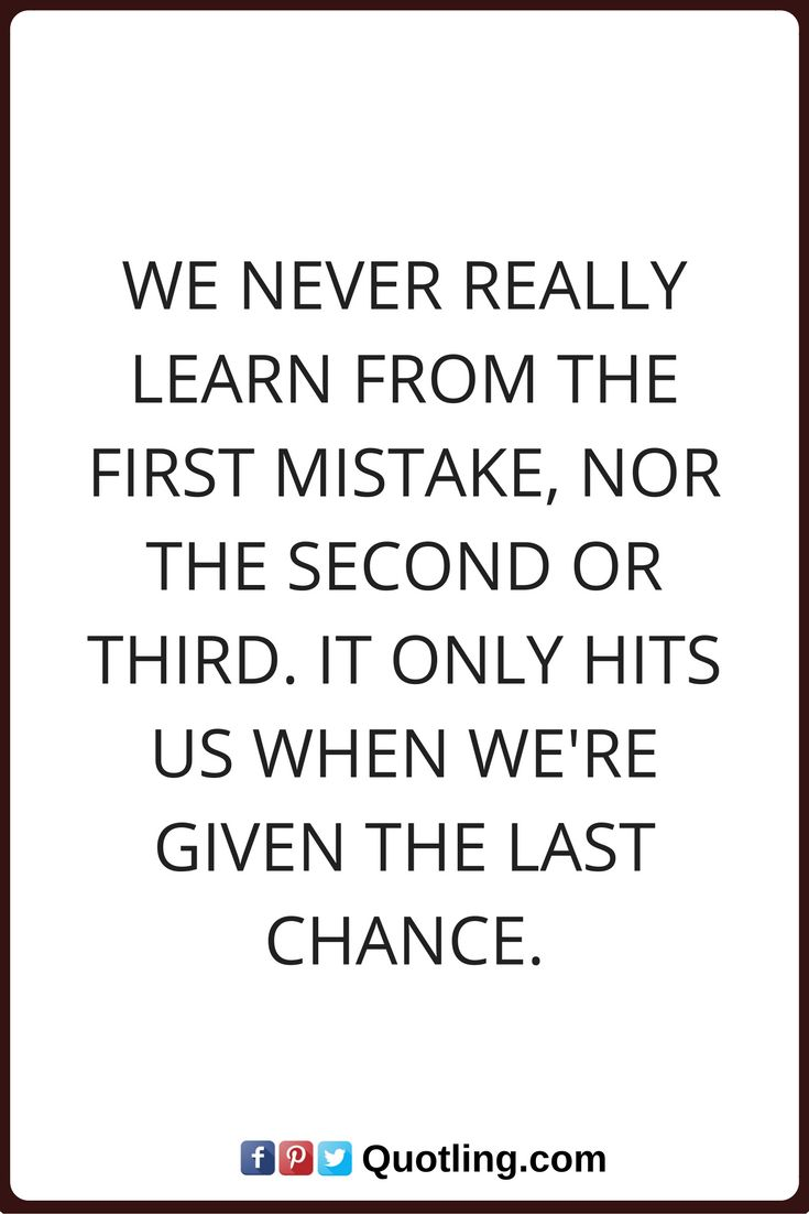 17 Best images about Mistakes Quotes on Pinterest