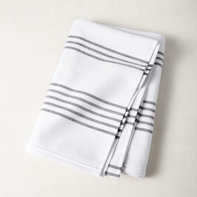 Raya Black And White Striped Bath Towel Reviews Black White
