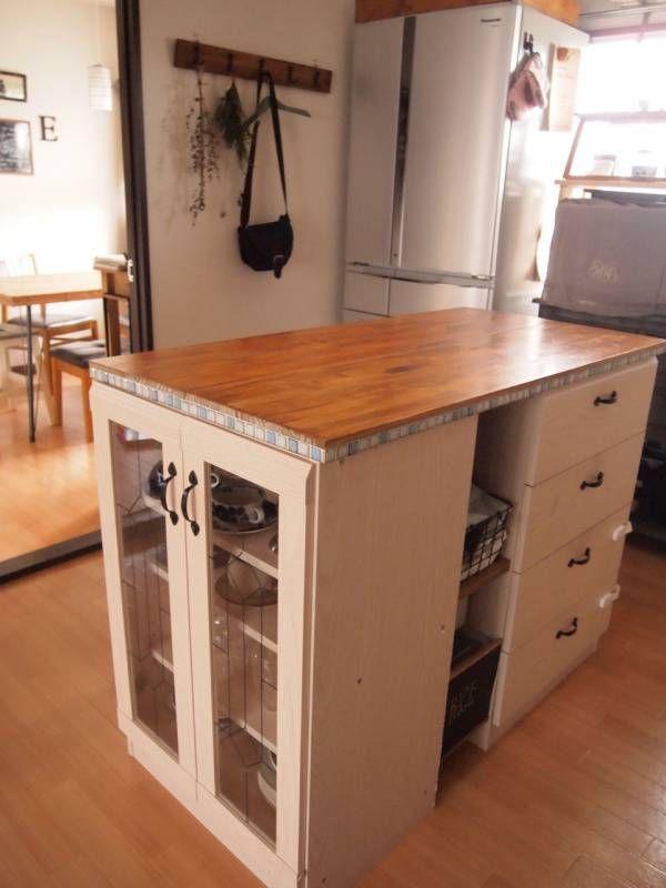 キッチンの作業代 Marguerite 手作りblog キッチン Diy 狭い家のキッチン インテリア 収納