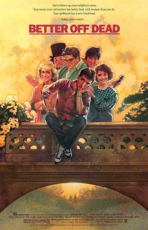 Better Off Dead Movie POSTER 27 x 40 John Cusack, David Ogden Stiers ...