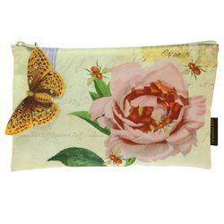 """Tokyo Milk Bee Blossom Cosmetic Bag by Tokyo Milk. $14.00. 9.25""""L x 5.75""""W. A covetable cosmetic tote to house a delightful world of curiosities. Eclectic imagery will carry you away from the everyday, with glittered paper butterfly tag perched as if ready to take flight."""