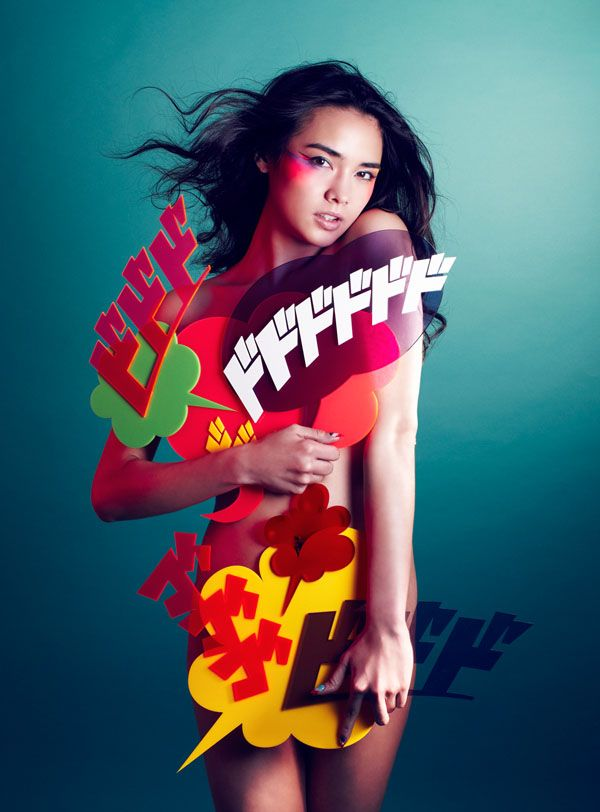 conceptual typeface garment by fantasista utamaro