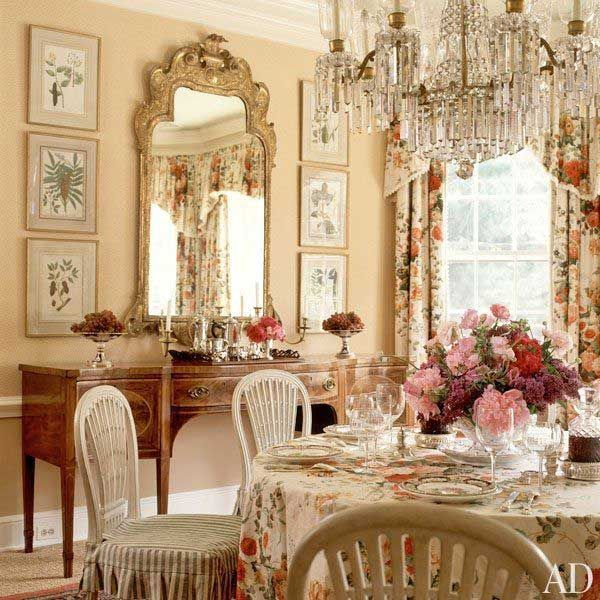 English style dining room images for Country dining room