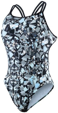 NIKE SWIM Shattered Glass Female Spiderback Tank (24-26, 32-36 Only) - Metro Swim Shop