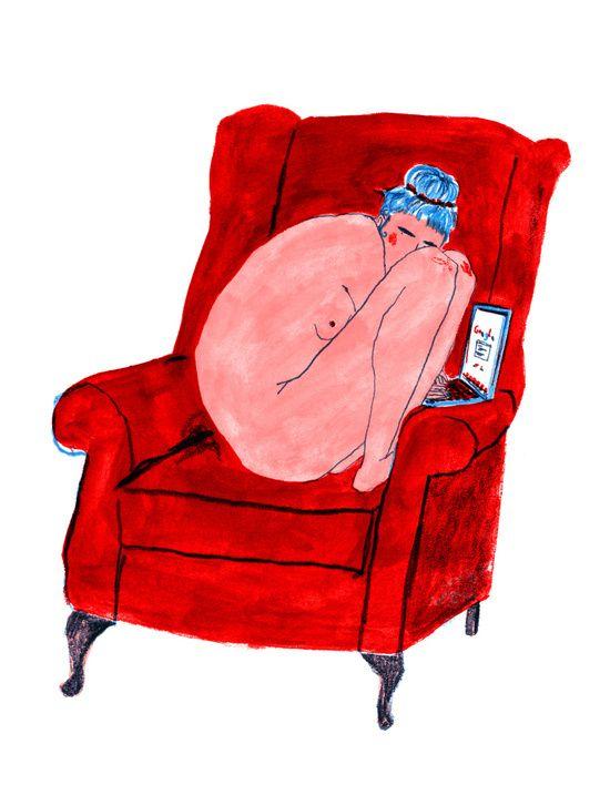 Naked Lady Art Print