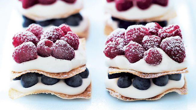 {Christmas Nosh} Berry Mille Feuille