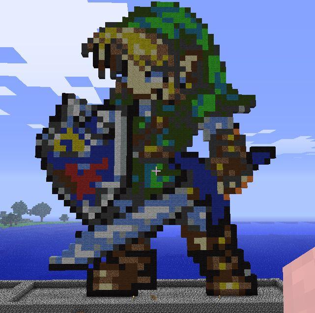 Minecraft Link Statue by myvideogameworld.deviantart.com