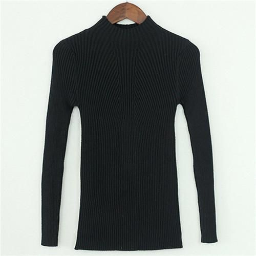 Women Jumper Knitwear Sweaters 2017 Elegant Turtleneck Slim Basic Cashemere Sweaters and Pullovers Christmas Pull Femme Hiver