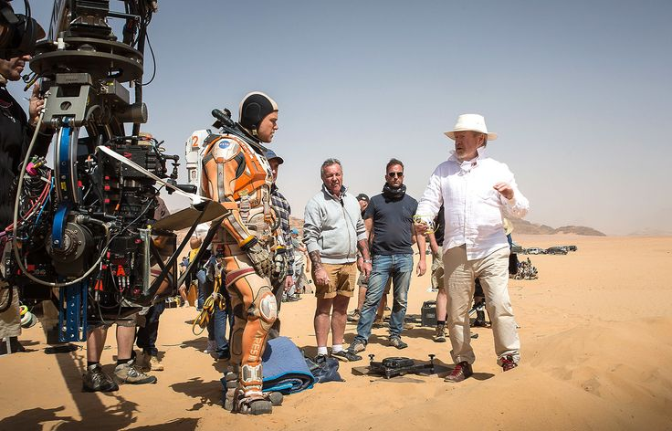 Matt Damon and Ridley Scott, who took over directing The Martian when Drew Goddard left the project. Courtesy of Twentieth Century Fox.