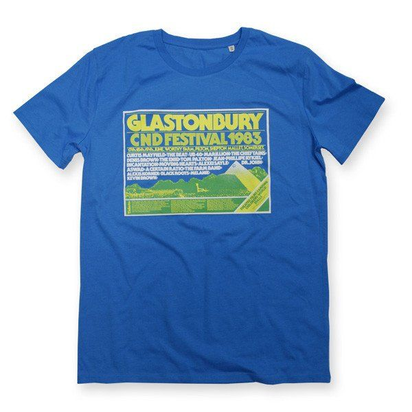 1983 Glastonbury Poster T-shirt (Unisex)   Glastonbury Festival