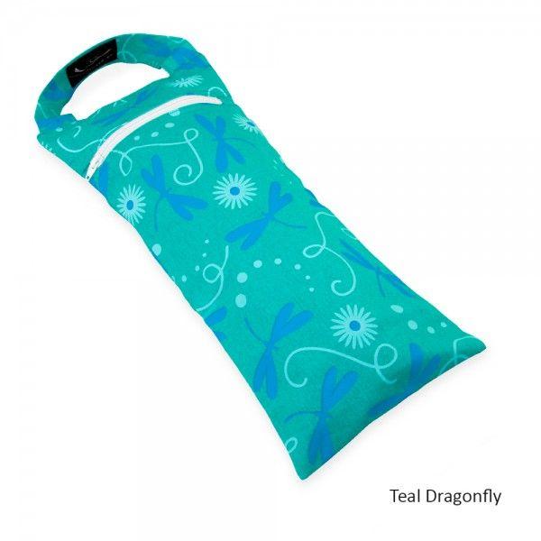 Yoga Sandbag - in Teal Dragonfly Print