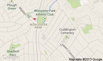 worcester park map