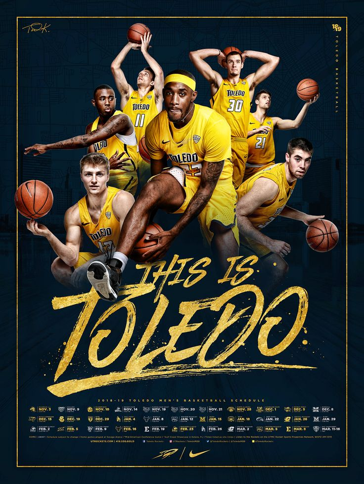 2018-19 Toledo Basketball Poster auf Behance   – Sposters