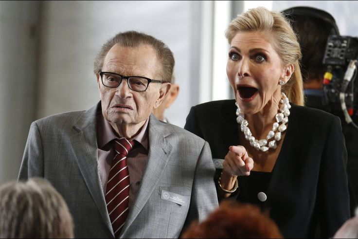 Larry King and wife Shawn
