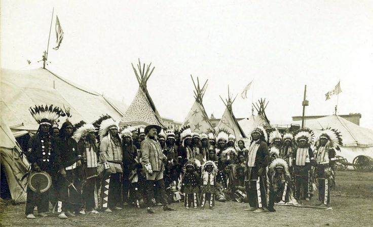 Buffalo Bill Cody and his Wild West Show.