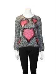 heart print girl jumper