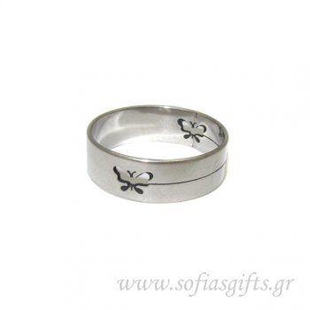 Ανδρικό δαχτυλίδι χαραγμένο πεταλούδα - Είδη σπιτιού και χειροποίητες δημιουργίες | Σοφία #ανδρικά #δαχτυλιδια #κοσμηματα #andrika #daxtylidia #kosmhmata