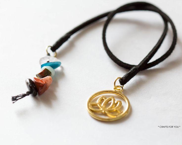 Lotus flower & 7 chakra stones-Status: sold.