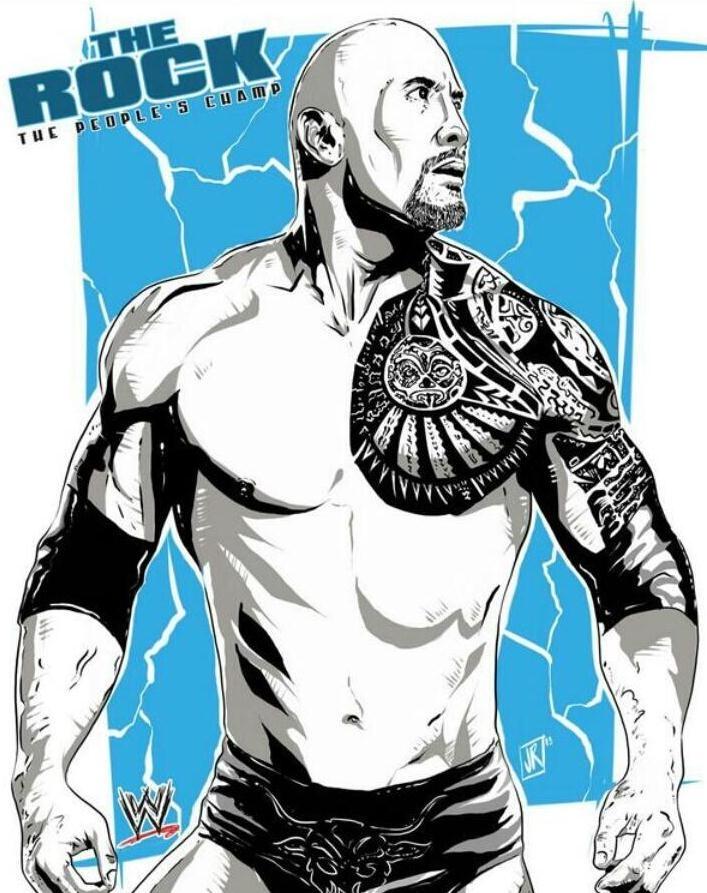 The Rock by Joe Romero  #WWE