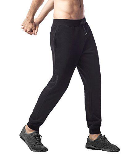 "Lapasa Men's Casual Fleece Jogger Basic Sweatpants Jogging pants with Drawstring M22 (XXL/Waist 44""-46"" Length 43.7"" Black)"