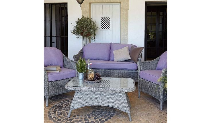 Buy Shore 4 Piece Sofa Set - Grey & Heather from our Conservatory Furniture range today from George at ASDA.