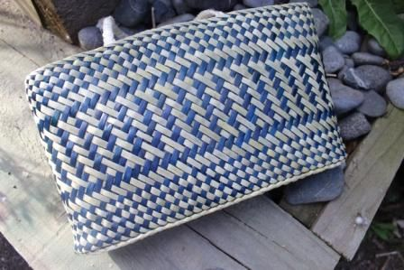 Blue & Natural Kete