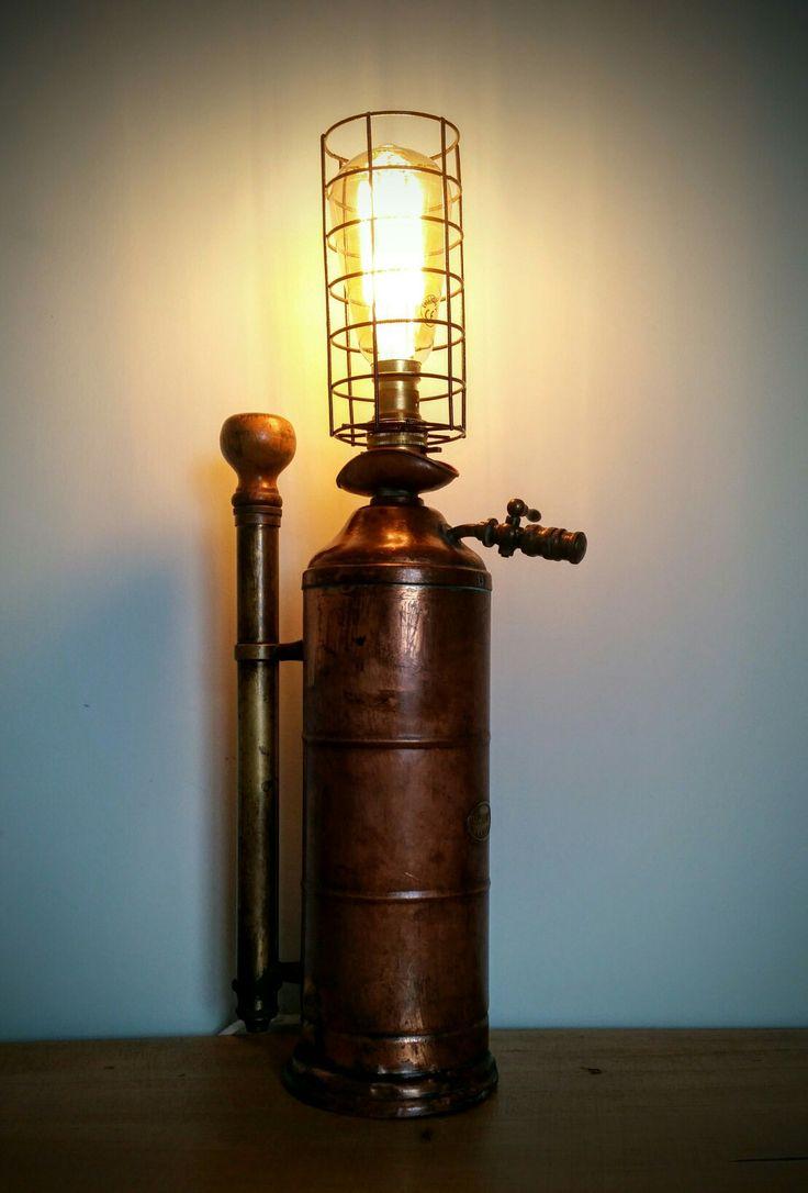amc77 vintage sprayer lamp steampunk industrial repurosed vintage lighting pinterest. Black Bedroom Furniture Sets. Home Design Ideas