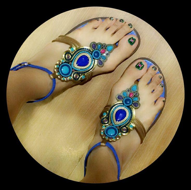 Blue Grendha Sandals