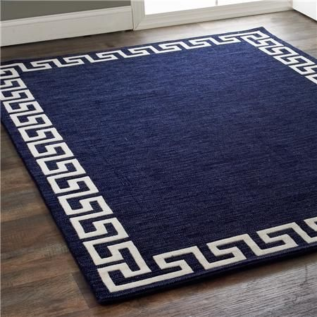 Rich Greek Key Border Rug