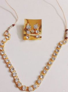 BRAND NEW SINGLE SOLITAIRE RICH DIAMOND LOOK NECKLACE WITH ADJUSTABLE DORI  #GoldNera