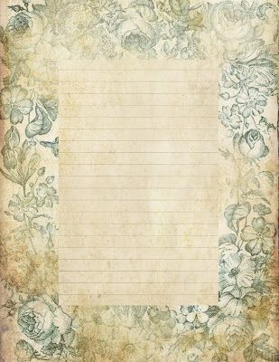 """Blue Floral"" ~ printable stationery, journal page, to-do list..."