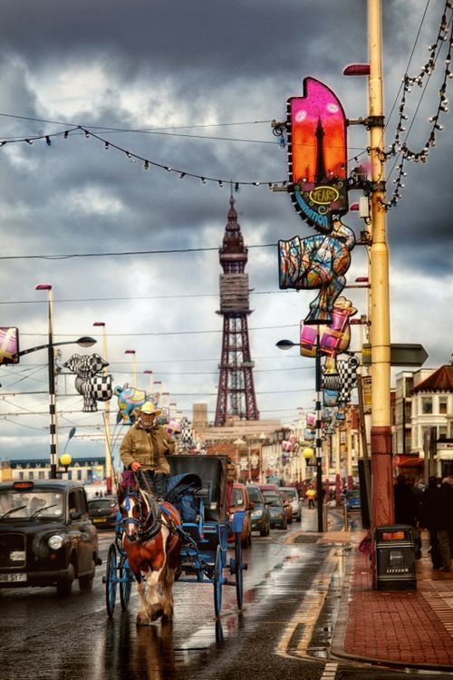 ~ Blackpool, England ~ I could not wait to leave ~ this place holds beloved childhood holiday beach memories for many British people  ~ crowded, crazy, commercial ~ yikes ~ glad I saw it ~ never again ~