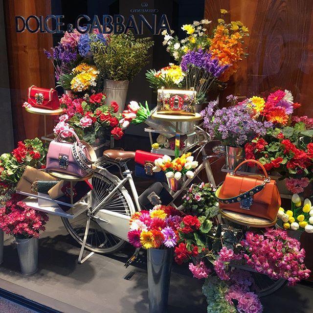 """DOLCE&GABBANA, Via Della Spiga, Milan, Italy, """"Il piccolo negozio di fiori"""", (The little flower shop), pinned by Ton van der Veer"""