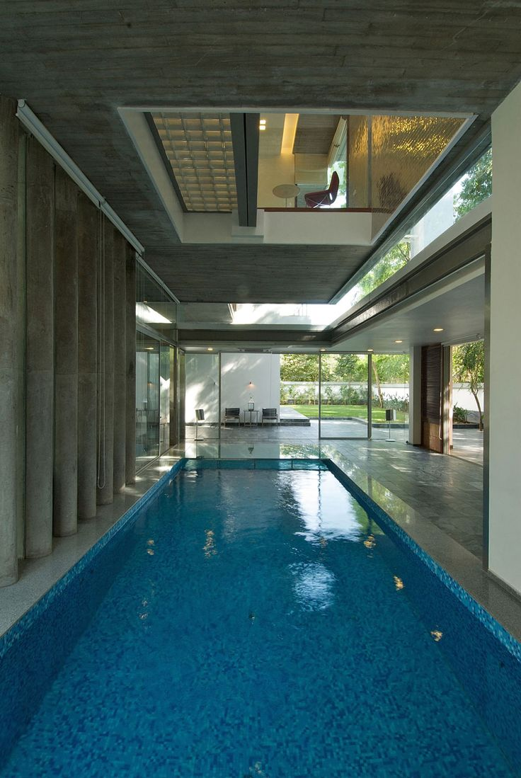 Indoor Pool Gl Walls Poona House In Mumbai India By Rajiv Saini