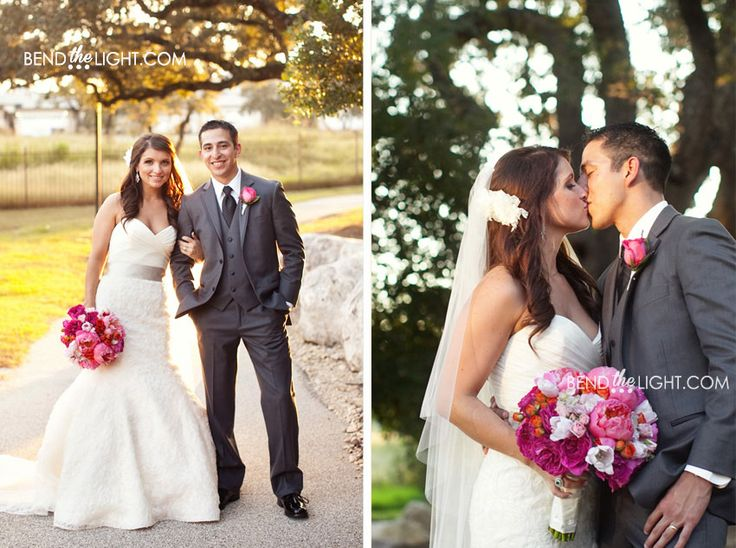 Google Image Result for http://www.bendthelightblog.com/wp-content/uploads/2012/10/26c-hilton-hill-country-hotel-san-antonio-tx-texas-wedding-hot-pink-fuschia-white-grey-wedding-color-scheme-bridesmaid-dress-groomsmen-suit.jpg