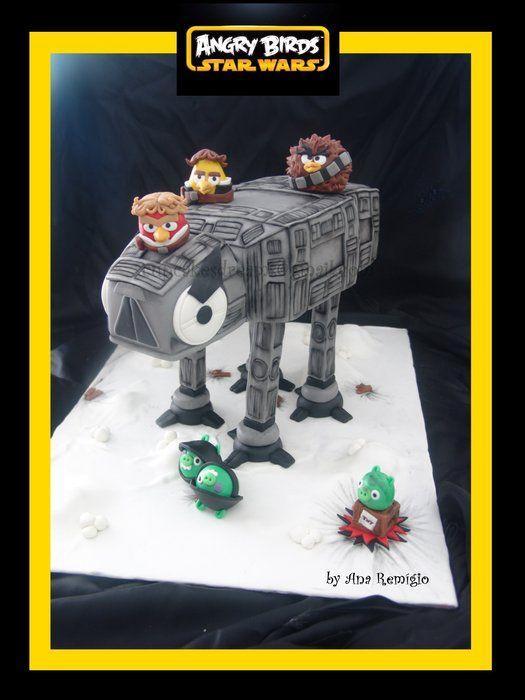 Angry Birds Luke Skywalker Star Wars Cake How To Make