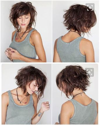 Image Result For How To Style A Layered Bob With Bangs