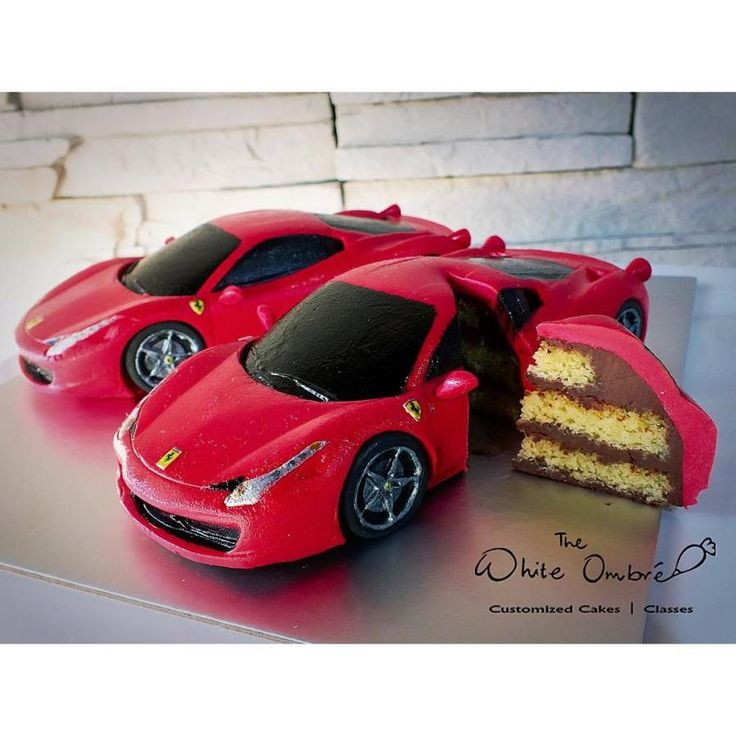 Miniature Ferrari 458 Italia Cake by Nicholas Ang