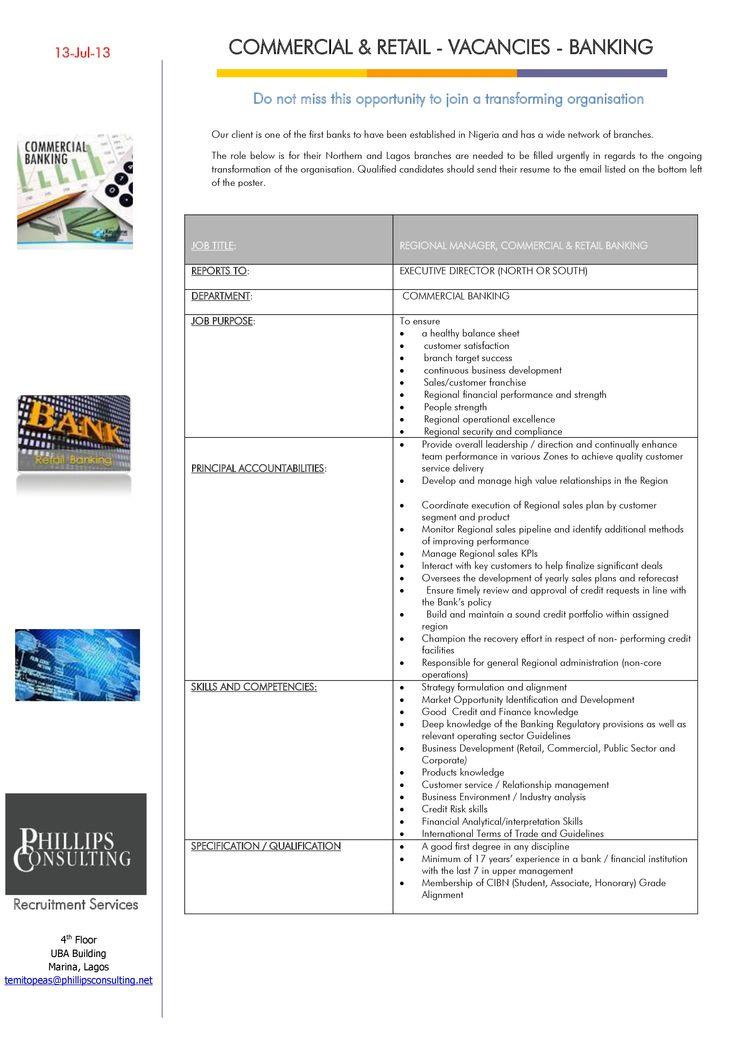This job poster gives a detailed job description for Regional - executive director job description