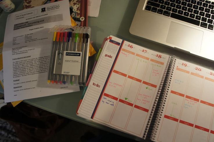 Studying with an Erin Condren Planner