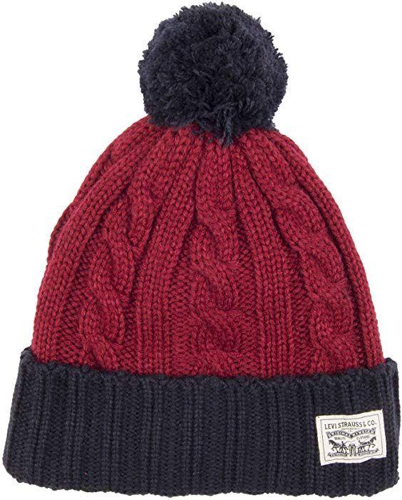 22419e65810 Levi s Men s Pompom Cable Beanie Hat