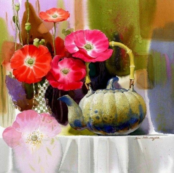 kolybanov - Солнечные натюрморты корейского мастера Shin Jong Sik .