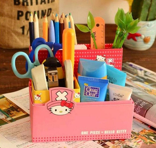 Aliexpress Free Shipping Kawaii O Kitty Chopper Multi Function Desktop Storage Box