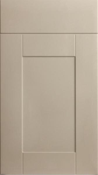 Shaker door in Matt Mussel, part of our range of replacement door range