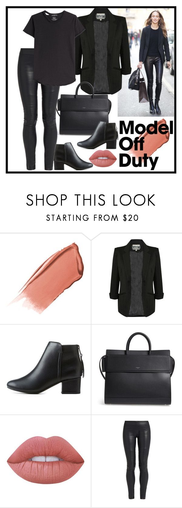 """""""It-Girl: Model Off Duty"""" by terryandjim ❤ liked on Polyvore featuring Hourglass Cosmetics, Pilot, City Classified, Givenchy, Lime Crime, The Row, Alexander McQueen and modeloffduty"""